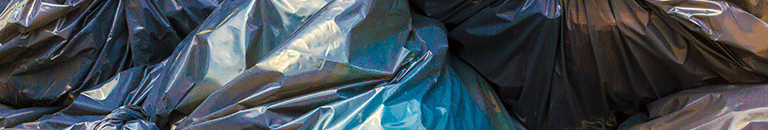 A pile of trash bags
