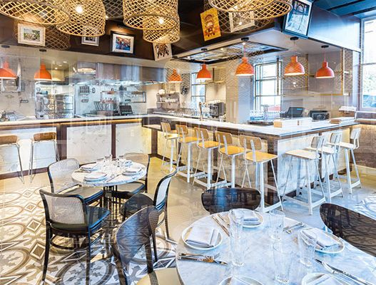 Restaurant interior Bindaas