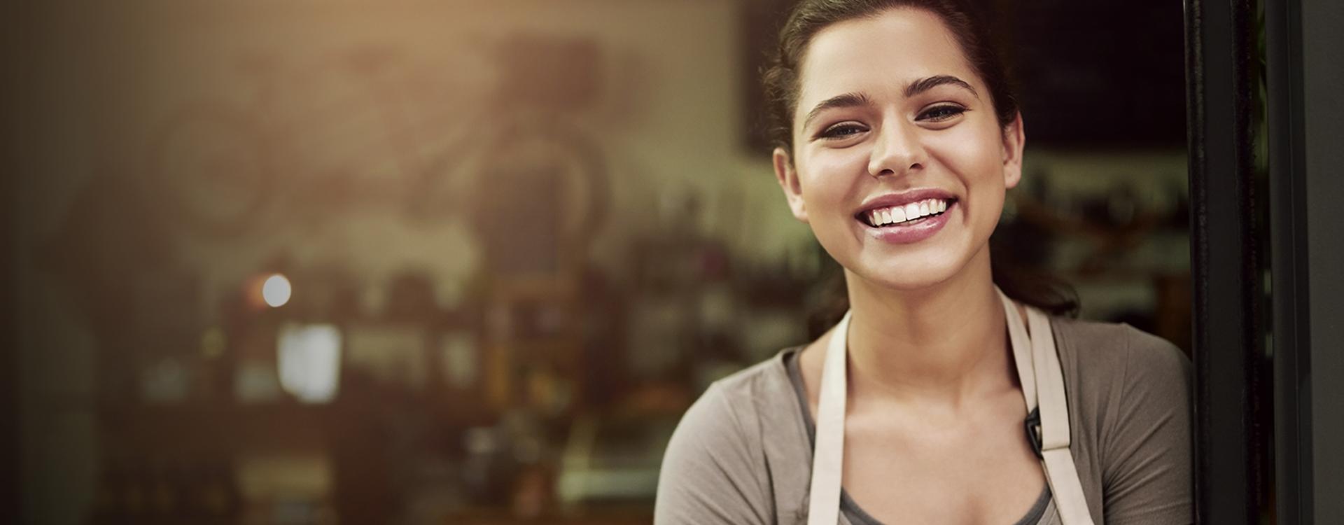Happy smiling barista