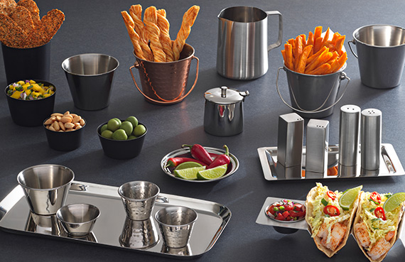 tabletop and Banquet assortment of Arcata stainless steel tabletop accessories by Premier Collections