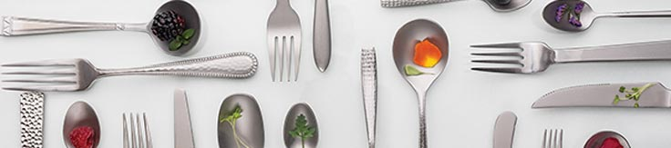 An arrangement of flatware from Premier Collections